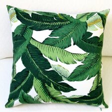 Emerald Tropical Palm Leaf Indoor/Outdoor Throw Pillow (Set of 2)
