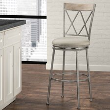 """Veronique 30"""" Swivel Indoor/Outdoor Bar Stool with Cushion"""