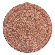 Aztec Burning Sun Stone Ceramic Plaque Wall Décor