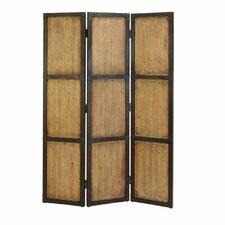 "71"" H x 48"" W Wood 3 Panel Room Divider"