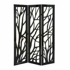 "71"" H x 48"" W Wood 3 Panel Room Divider"