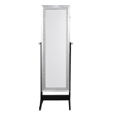 Pizzazz Full Length Jewelry Armoire with Mirror