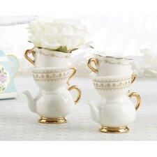 Tea Time Whimsy Ceramic Bud Table Vase (Set of 12)