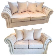 Chester 2 Piece 3 Seater and 2 Seater Pillow Back Sofa Set
