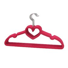 Heart Shaped Sturdy Slim Clothes Hanger (Set of 10)