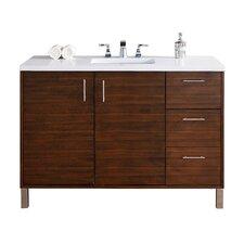 "Metropolitan 48"" Single American Walnut Bathroom Vanity Set"