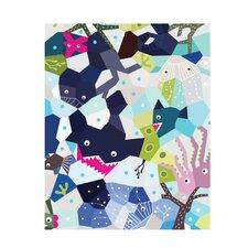 Oceanography Cubist Paper Print