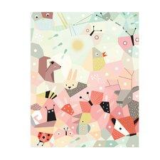 Menagerie Cubist Paper Print