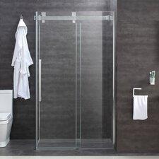 Easy Clean Glass 120cm W x 8cm D x 200cm H Rectangular Sliding Door Shower Enclosure