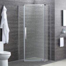 Easy Clean Glass 200cm W x 90cm D x  90cm H Square Pivot Shower Enclosure