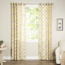 Ankara Ikat Semi-Sheer Single Curtain Panel
