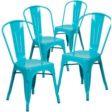 Armless Stacking Dining Side Chair (Set of 4)