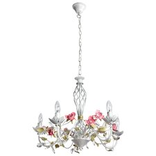 Flora 5 Light Candle Chandelier