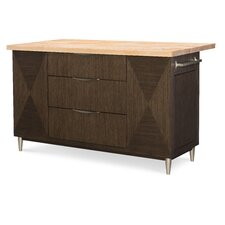 Soho by Rachael Ray Home Kitchen Island with Butcher Block