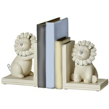 Perry 2 Piece Lion Bookends Set