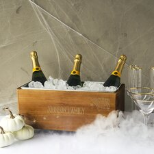 Personalized Halloween Wooden Wine Trough Beverage Tub