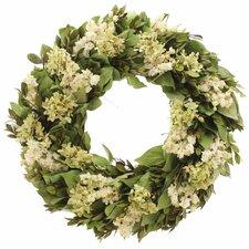 Kings Garden Hydrangea/Natural Leaf Wreath