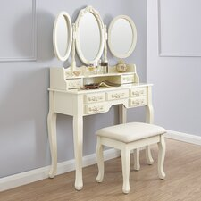 Auguste Dressing Table Set with Mirror