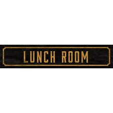 Lunch Room Street Sign Wall Décor