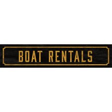 Boat Rentals Street Sign Wall Décor