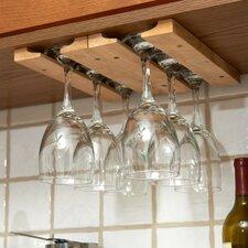 Wood Hanging Wine Glass Rack (Set of 4)