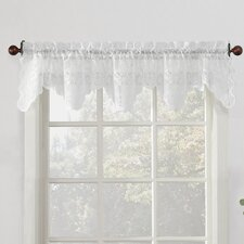 Alison Floral Sheer Lace Kitchen Curtain Valance