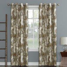 Presley Paisley Print Woven Texture Energy Efficient Single Curtain Panel