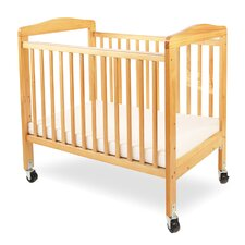 Compact Wooden Window Convertible Crib with Mattress