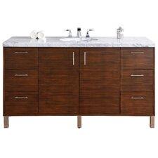 "Metropolitan 60"" Single American Walnut Bathroom Vanity Set"