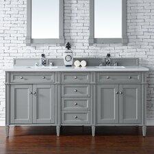 "Brittany 72"" Double Urban Gray Bathroom Vanity Set"