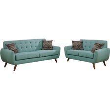 Bice Modern Retro Sofa and Loveseat Set  by Mercury Row®