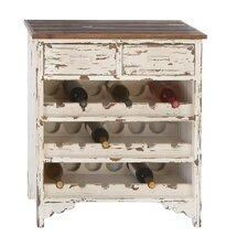 Morgan Wood 2 Drawer Wine Cabinet