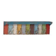 Panel Wall Shelf with Hooks