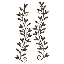 2 Piece Metal Nature Lovers Wall Décor Set (Set of 2)