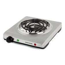 """Portable 10"""" Electric Cooktop with 1 Burner"""