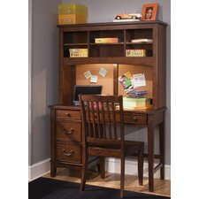 "Roberta Youth Bedroom 44"" W Computer Desk with Hutch"