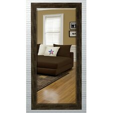 Beveled Brown Wall Mirror