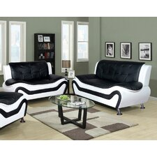Algarve Leather Sofa and Loveseat Set