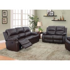Maumee 2 Piece Bonded Leather Reclining Living Room Sofa Set