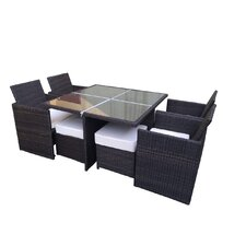 Excel 9 Piece Dining Set with Cushions