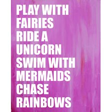 Dream a Little Dream 'Play with Fairies' by Liz Clay Framed Textual Art