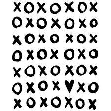 Dream a Little Dream 'XOXO' by Liz Clay Framed Textual Art