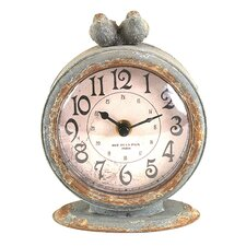 Traditional Pewter Mantel Clock