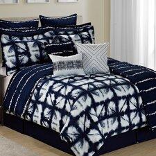 Caldwell Tie Dye Plaid 12 Piece Printed Reversible Comforter Set