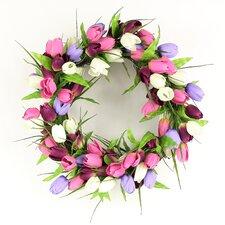 Luxurious Tulip Blossom Polysilk Wreath
