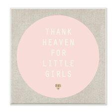 Thank Heaven for Little Girls Pink and Tan Wall Plaque