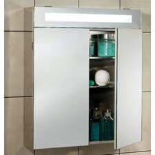 Titan 62cm x 70cm Surface Mount Mirror Cabinet with Lighting