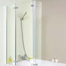 Ella 81cm x140cm Hinged Bath Screen