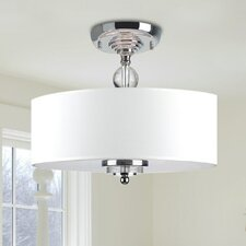 Crystal Decorated 3-Light Semi Flush Mount