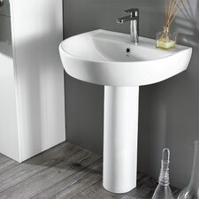 "Bella 32"" Pedestal Bathroom Sink with Overflow"